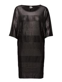 Saint Tropez Foil Printed Rib Dress BLACK