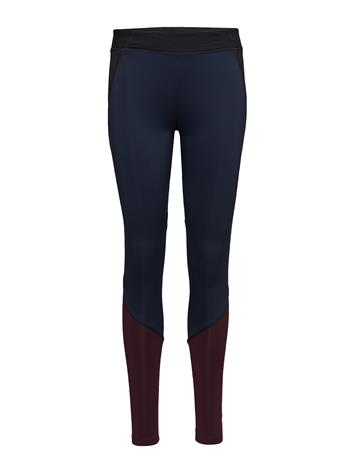 Mango Sports Panel Contrast Leggings DARK RED