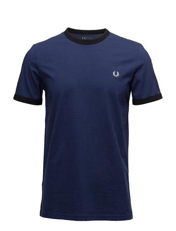 Fred Perry Ringer T-Shirt FRENCH NAVY