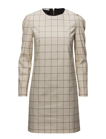Mango Check Shift Dress WHITE