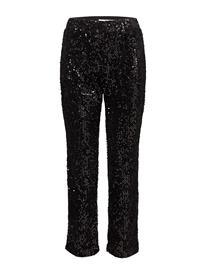 Mango Sequined Trousers BLACK