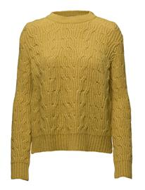 Mango Cable-Knit Sweater BRIGHT YELLOW