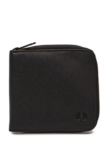 Fred Perry Zip Around Wallet BLACK