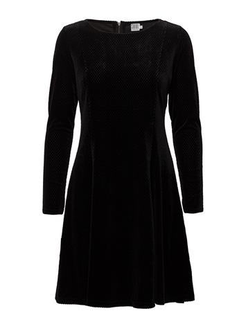 Saint Tropez Check Velvet Dress BLACK