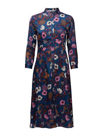 Mango Floral Shirt Dress LT-PASTEL BLUE