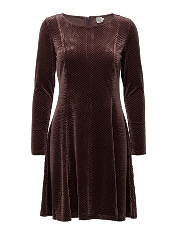 Saint Tropez Check Velvet Dress FUDGE