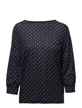Tommy Hilfiger Annie Boat Nk Top 3/ TINY DOUBLE DOT PRT / PEACOAT