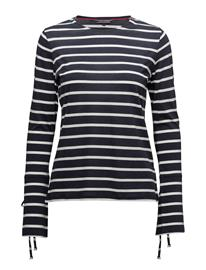 Tommy Hilfiger Annie C-Nk Top Ls, X PEACOAT / SNOW WHITE