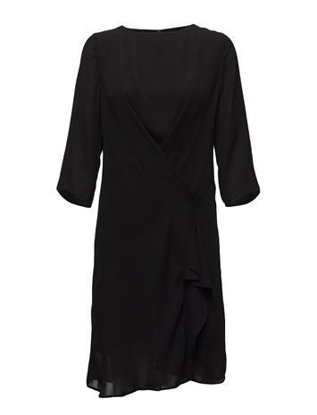 Saint Tropez Dress With Draped Hem BLACK