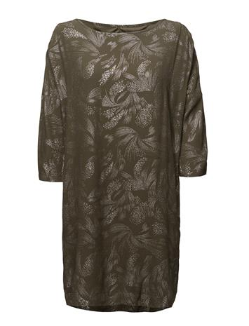 Saint Tropez Foil Printed Dress ARMYGREEN