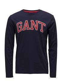 GANT Op1. Gant Outline Ls T-Shirt EVENING BLUE