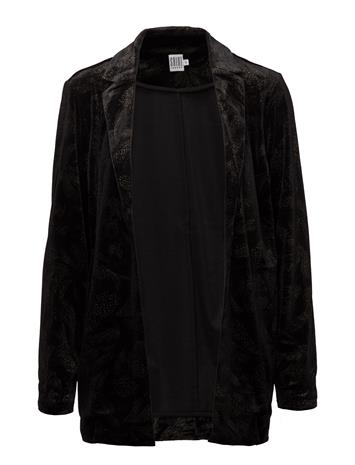 Saint Tropez Velvet Blazer W Print BLACK