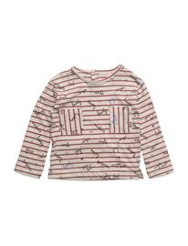 Mango Kids Message Striped T-Shirt LIGHT BEIGE