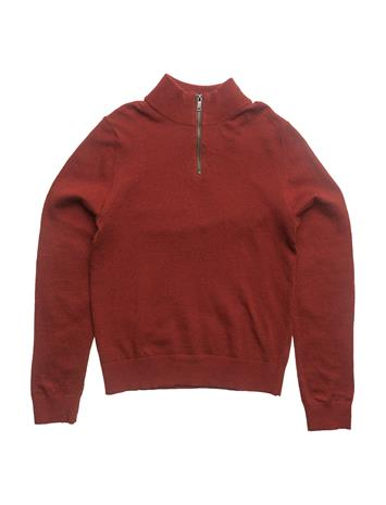 Mango Kids Zipped Elbow Patches Sweater RED