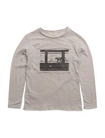 Mango Kids Patch Printed T-Shirt GREY