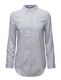 Tommy Jeans Original Lightweight Shirt L/S HALOGEN BLUE