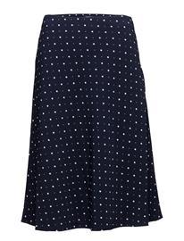 GANT Op2. A-Line Printed Skirt EVENING BLUE