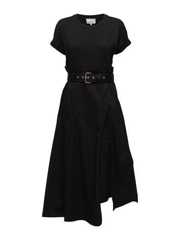 3.1 Phillip Lim Ss Dress W Jersey Tee BLK-BLK