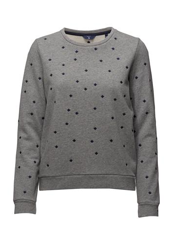 GANT Op1. Ao Embr Snowfl. C-Neck Sweat GREY MELANGE
