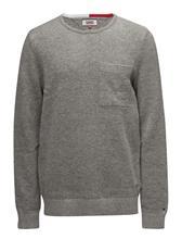 Tommy Jeans Tjm Wool Pkt Sweater LT GREY HTR