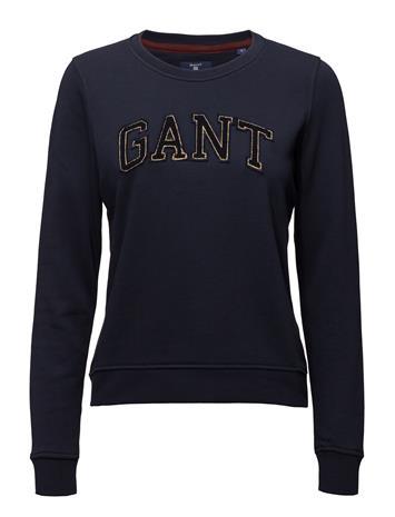 GANT Op1.Gant Gold Chenille C-Neck Sweat EVENING BLUE