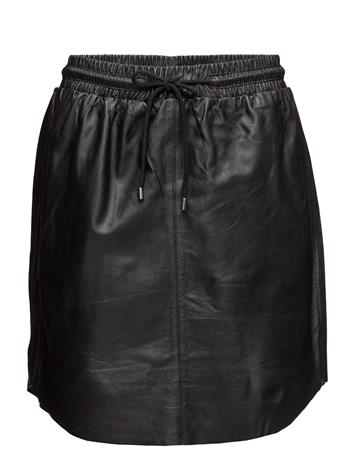 Saint Tropez Leather Skirt BLACK