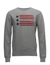 GANT Op1. American Flag C-Neck Sweat GREY MELANGE