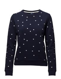 GANT Op1. Ao Embr Snowfl. C-Neck Sweat EVENING BLUE