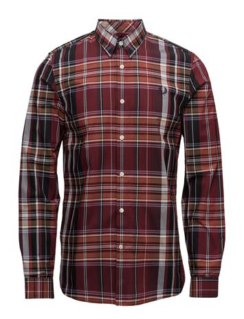 Fred Perry Tartan Shirt RICH RED