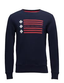 GANT Op1. American Flag C-Neck Sweat EVENING BLUE