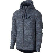 Nike Huppari NSW Tech Fleece FZ - Sininen/Musta