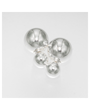 Silver Bar 7168 BB-täyshopea 10/16 hopeakorvakorut