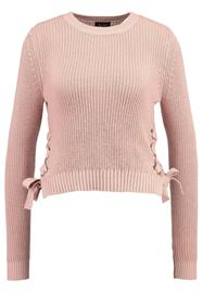 Bardot EYELET CROP JUMPER Neule misty rose