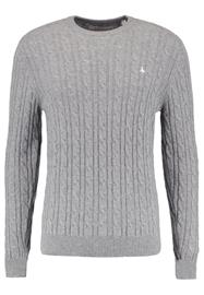Jack Wills MARLOW CABLE CREW NECK Neule grey marl