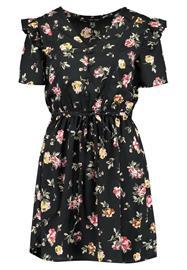 New Look BUTTON UP RUFFLE TEA DRESS Vapaaajan mekko black