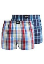 Lousy Livin Underwear CHECK 2 PACK Bokserit strong blue