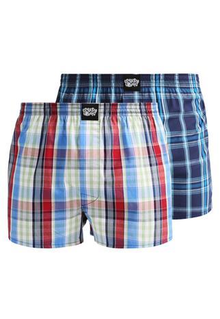 Lousy Livin Underwear CHECK 2 PACK Bokserit strong blue