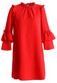 Dorothy Perkins CREPE RUFFLE DRESS Vapaaajan mekko red