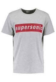 Samsøe & Samsøe SUPERSONIC Printtipaita grey melange