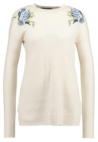Dorothy Perkins Tall FLORAL EMBROIDED JUMPER Neule ivory