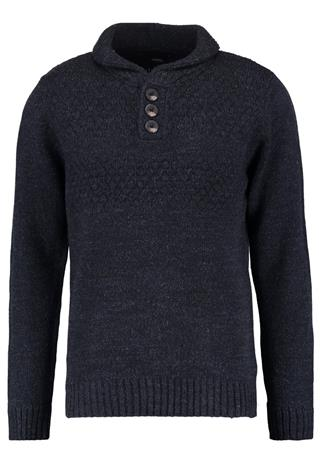 Burton Menswear London NECK ECRU Neule navy