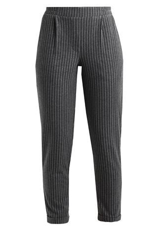 ONLY ONLTAMI PINSTRIPE PULL UP PANTS Verryttelyhousut dark grey melange