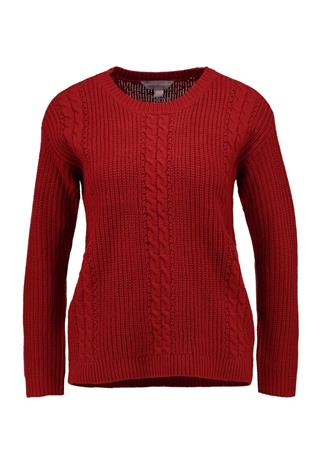 Dorothy Perkins Petite CABLE Neule red