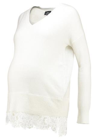 Topshop Maternity LACE HEM HYBRID Neule off white