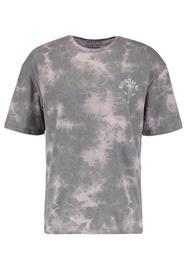Jack & Jones JORTIEREAPER CREW NECK Printtipaita silver/pink