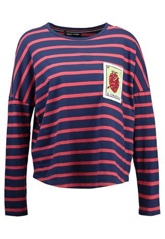 Each x Other EMBROIDERED MARINIERE Pitkähihainen paita black/red