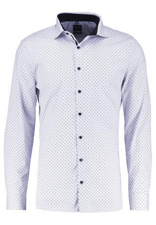 OLYMP No. Six SUPER SLIM FIT Vapaaajan kauluspaita weiß/grau/schwarz