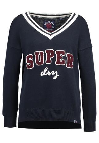 Superdry SUPER LOGO VEE Neule navy