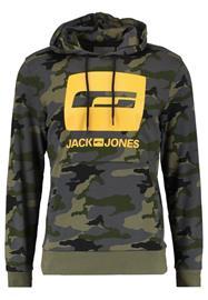 Jack & Jones JCOMUNICH HOOD Huppari black/multicoloured