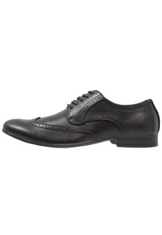Feud London WINGCAP BROGUE Klassiset nauhakengät black